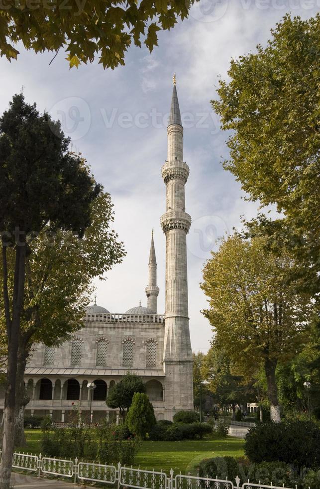 Minarette, blaue Moschee foto