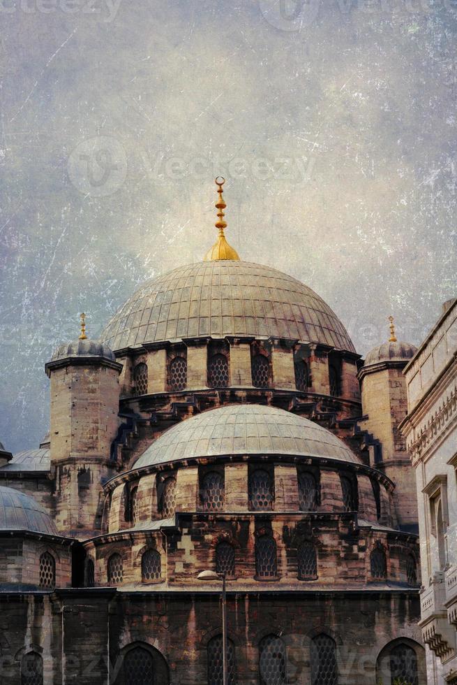 Eminonu neue Moschee (Grunge), Istanbul, Truthahn. foto