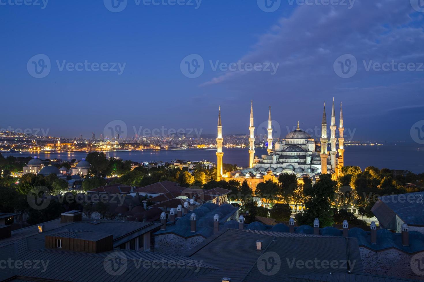 blaue Moschee und Hagia Sophia foto