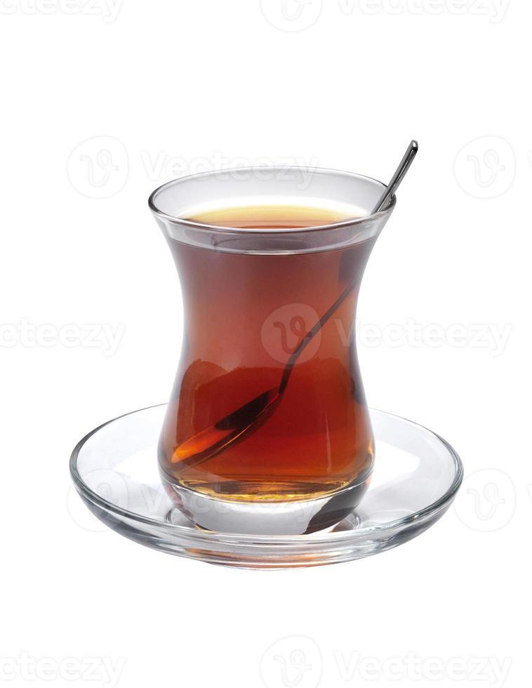 türkischer Tee + Schnittpfad foto
