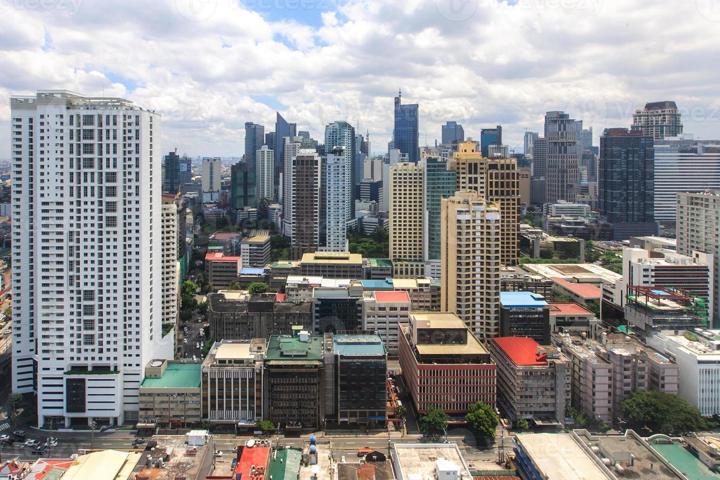 Skyline des zentralen Geschäftsviertels von Makati 30. Juli 2015 2 foto