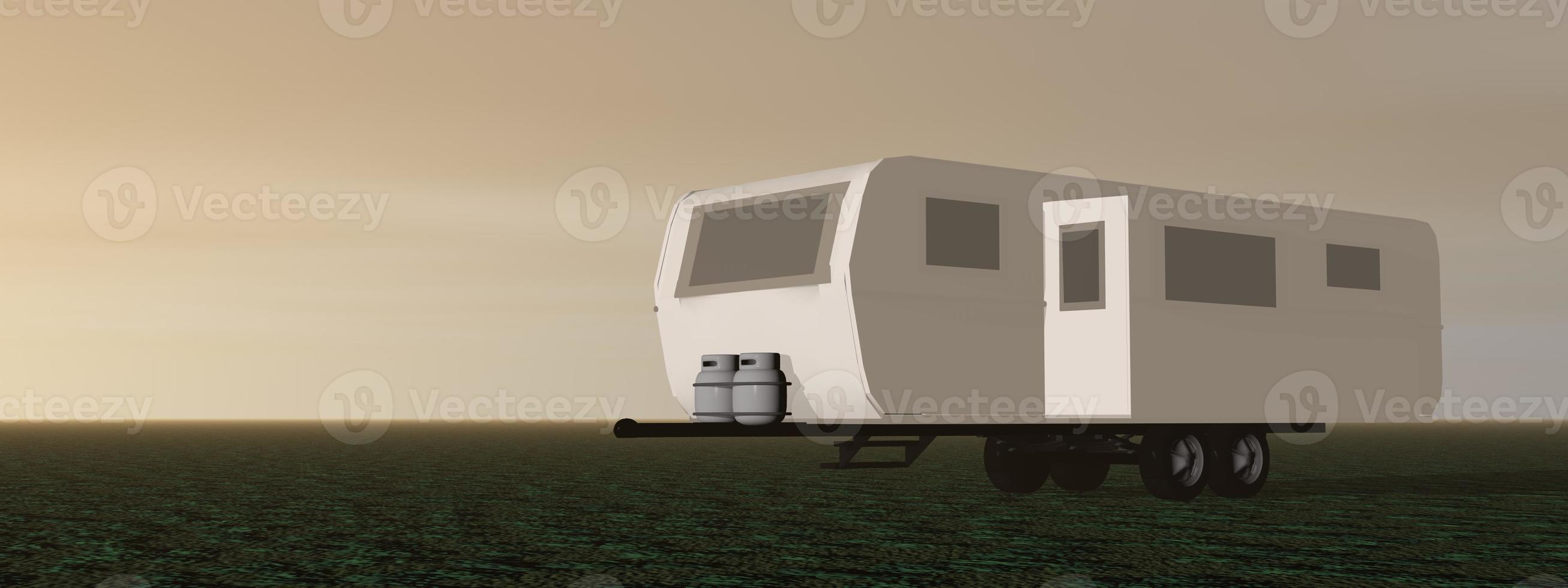 Wohnwagen - 3d rendern foto