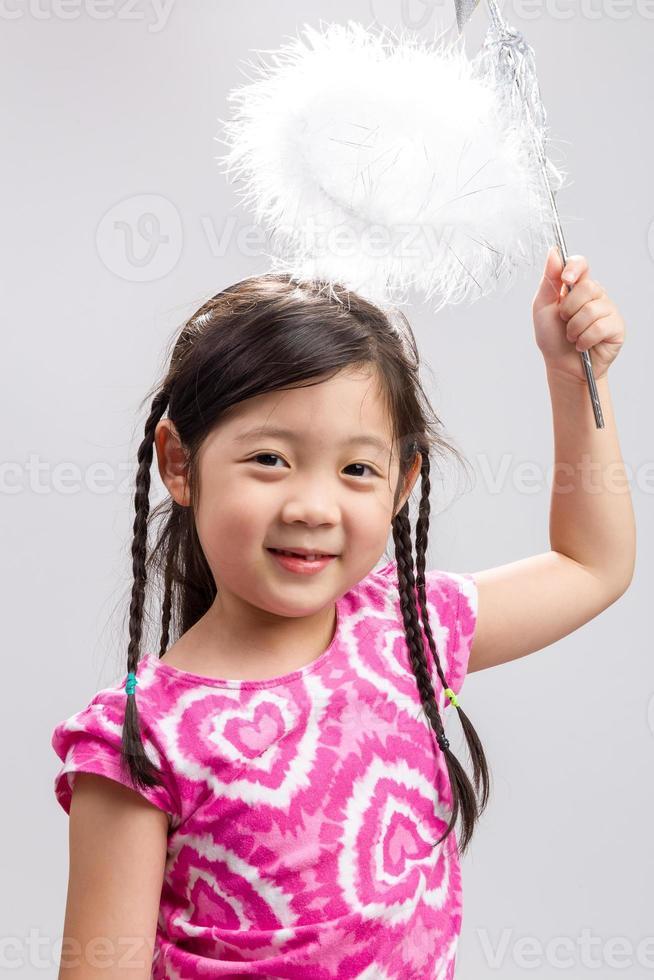 Kind mit Zauberstab Hintergrund / Kind mit Zauberstab Hintergrund foto