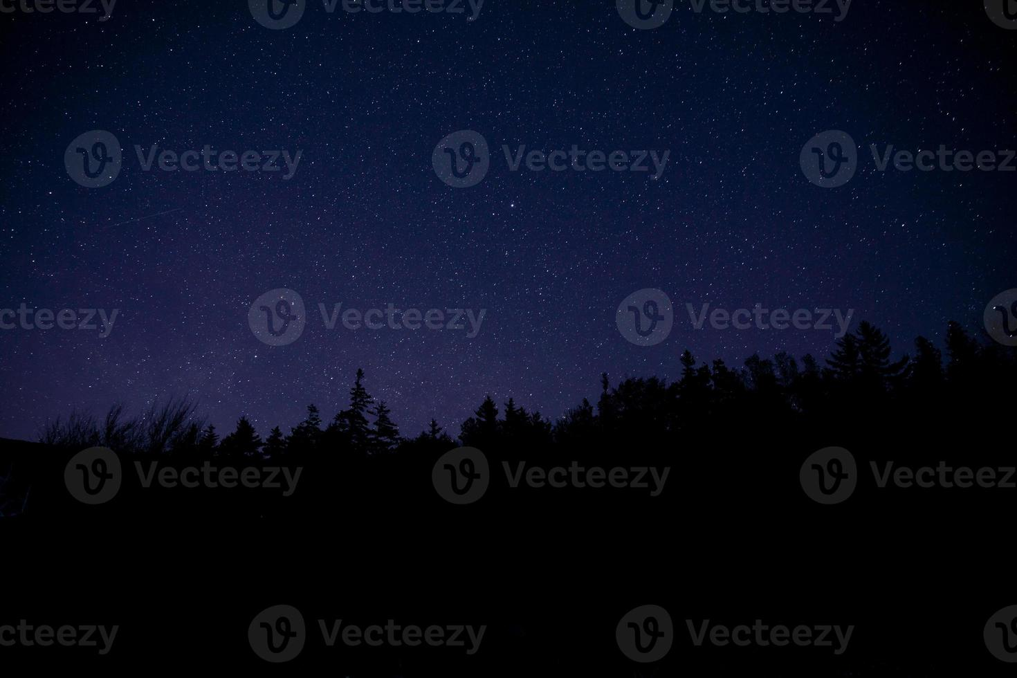 Acadia National Park mit Nachtsternen foto