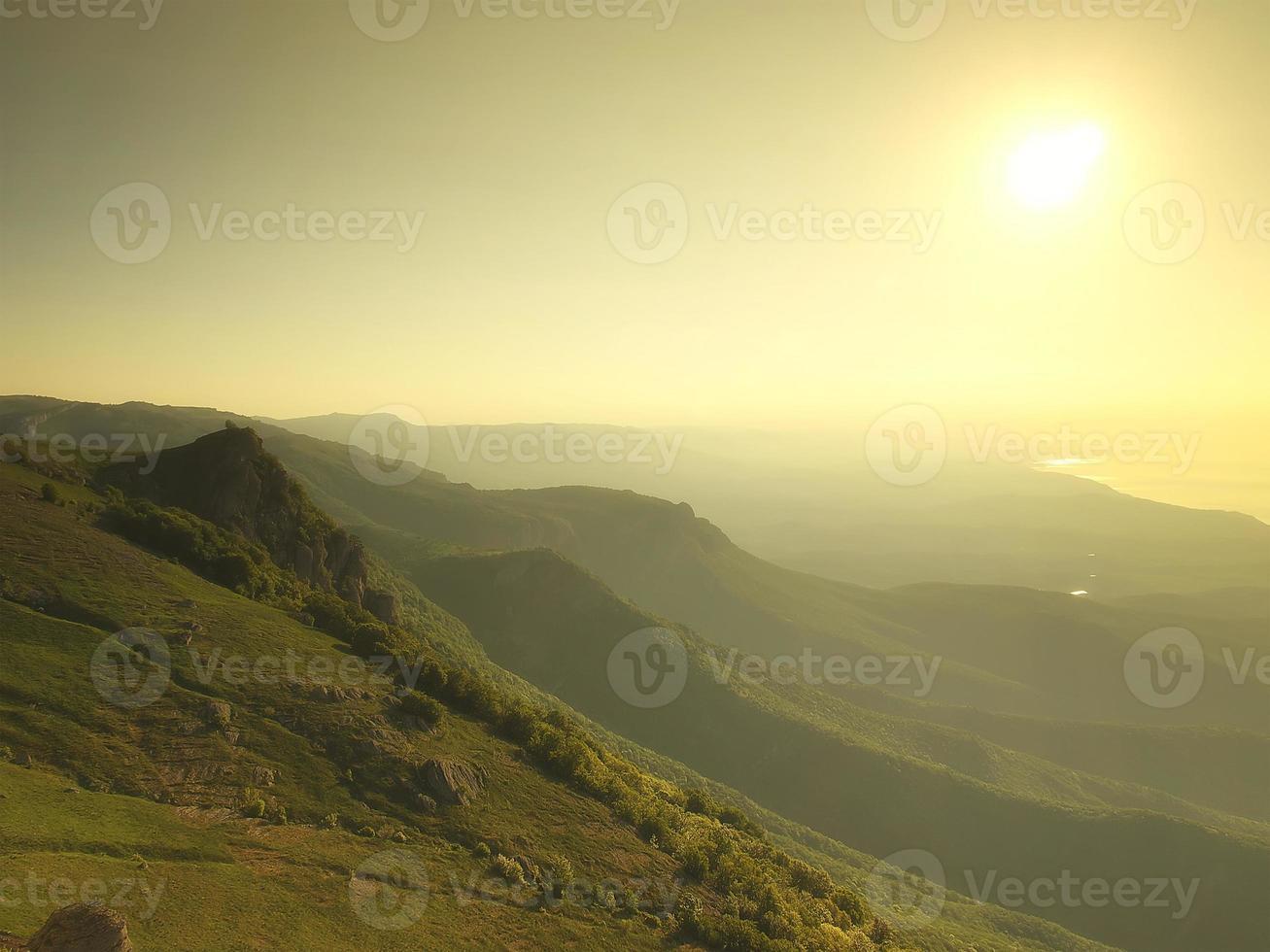 Berg Sonnenuntergang foto