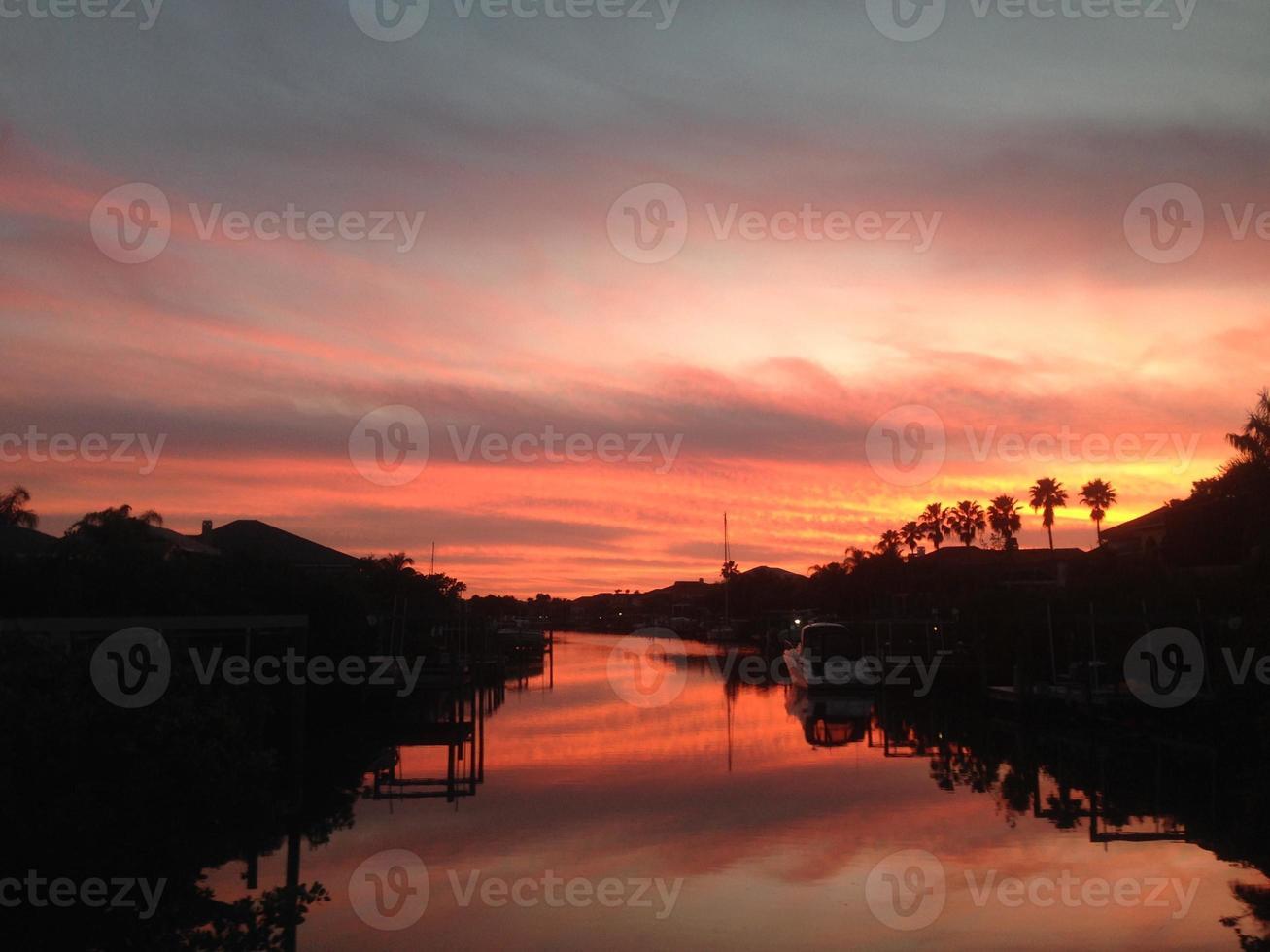 Einlass Sonnenuntergang foto