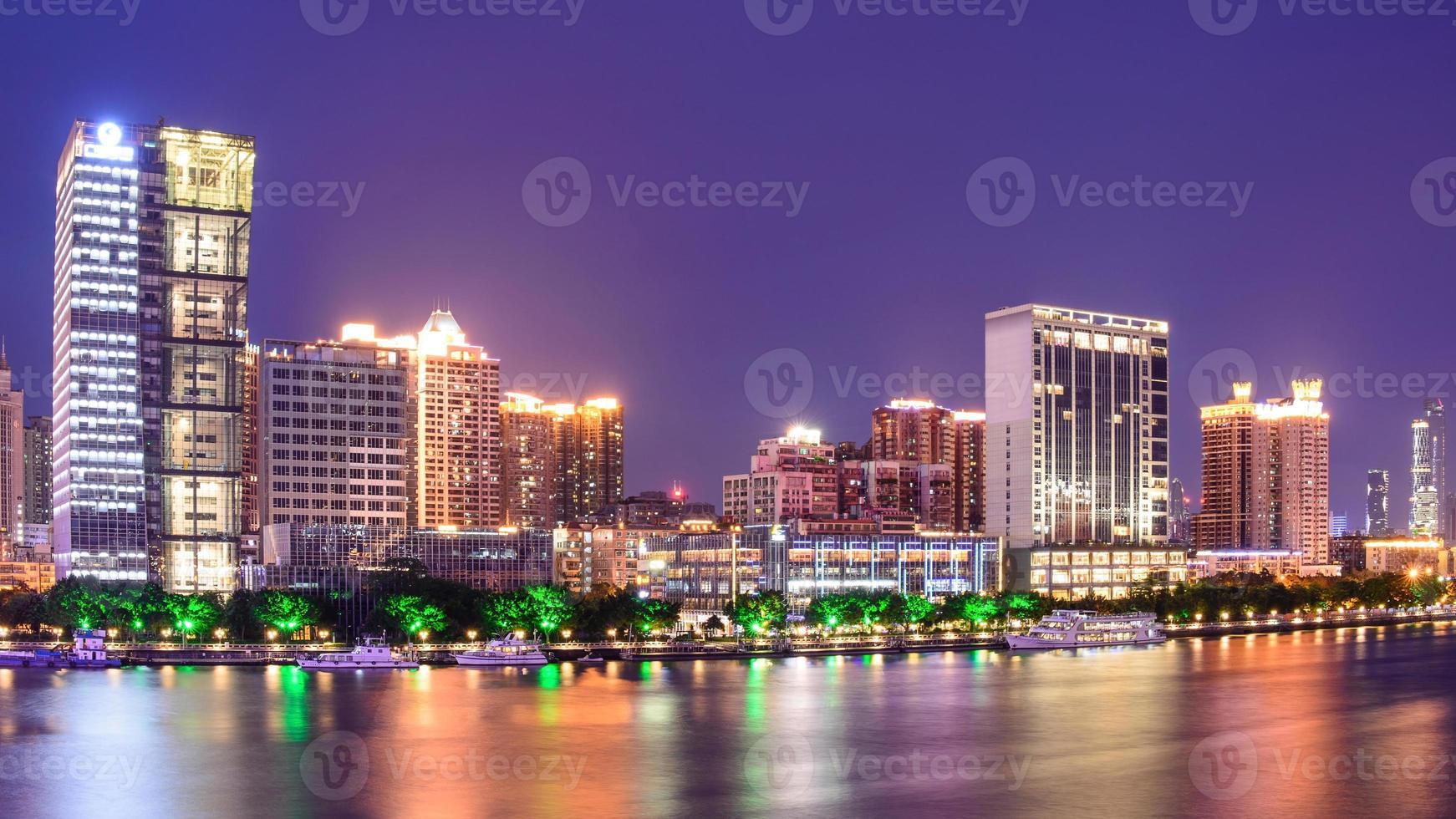 Guangzhous Wahrzeichen in der Nacht foto