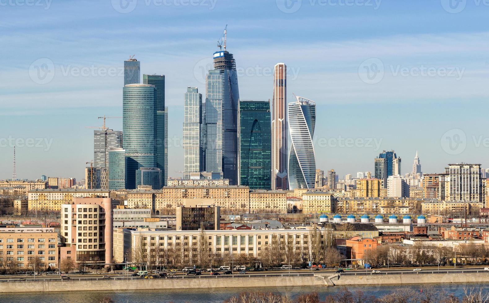 Blick auf Moskau-Stadt foto