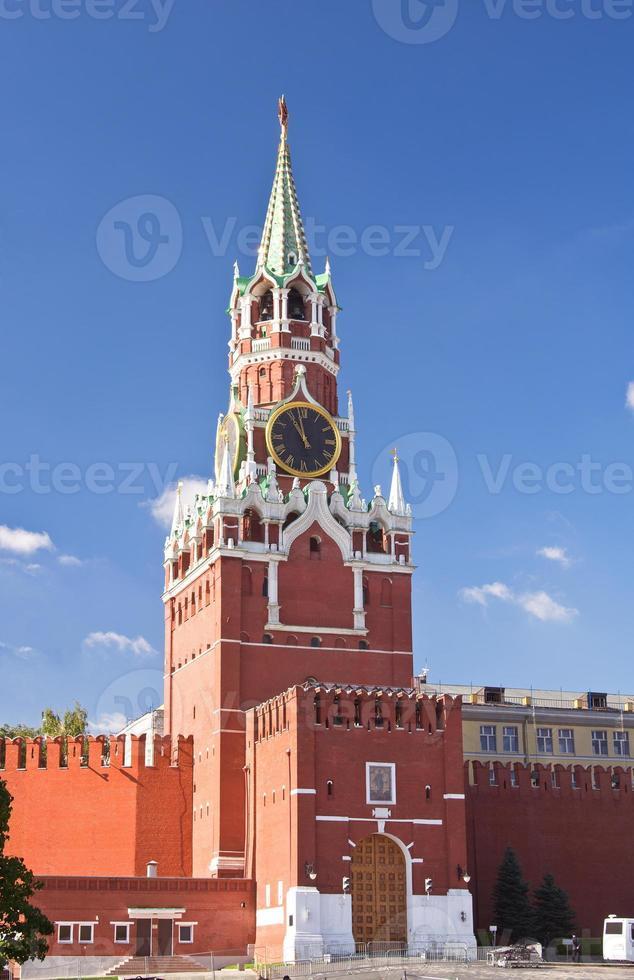 Spasskaya-Turm im Moskauer Kreml foto