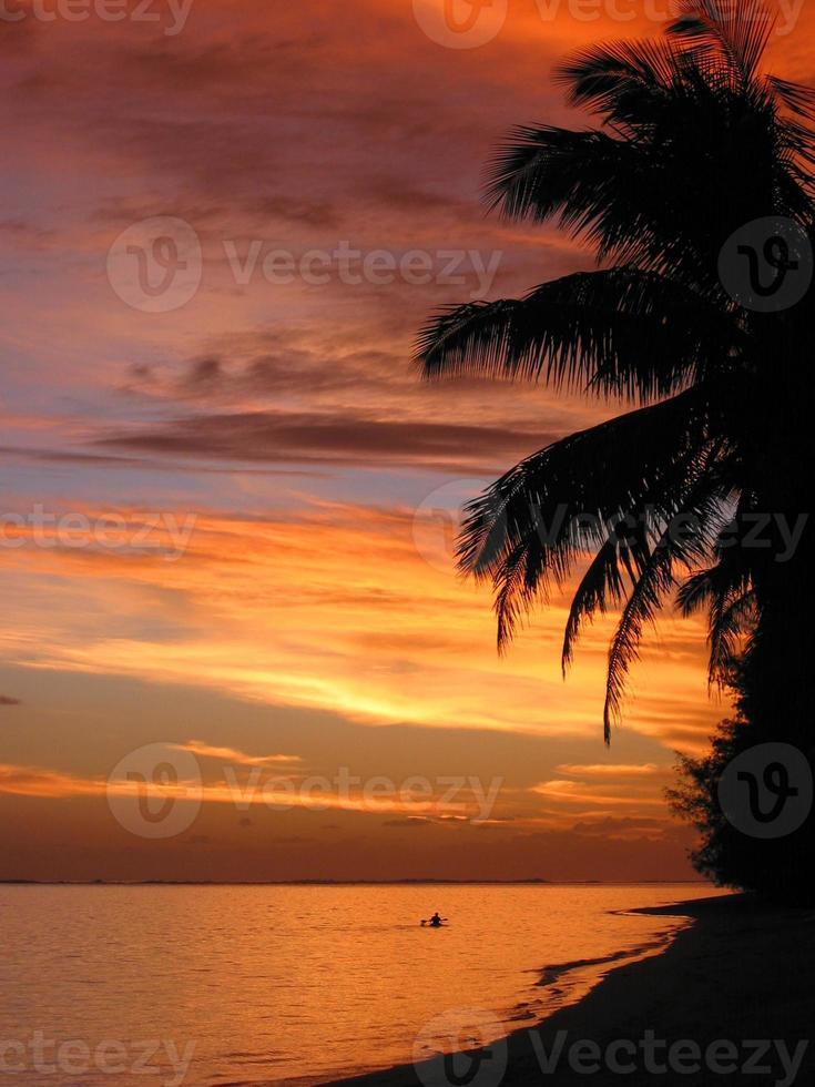 Kochinseln Sonnenuntergang foto
