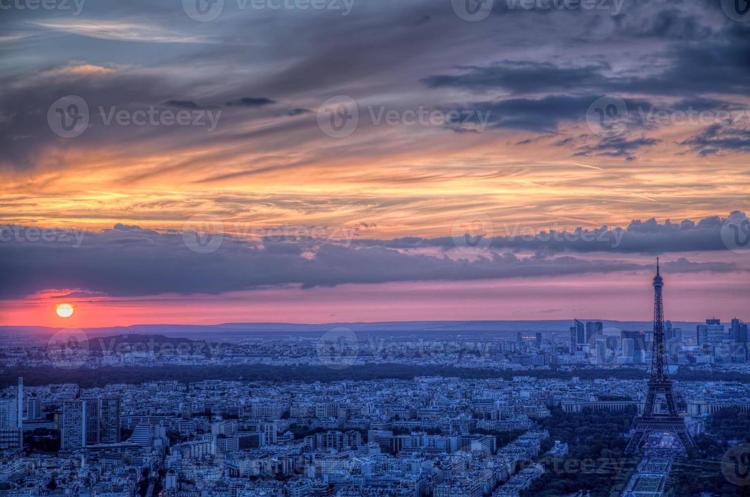 Sonnenuntergang über Paris foto