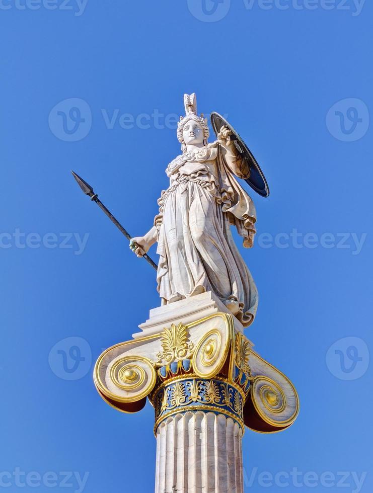 Statue der Göttin Athena, Athen, Griechenland foto