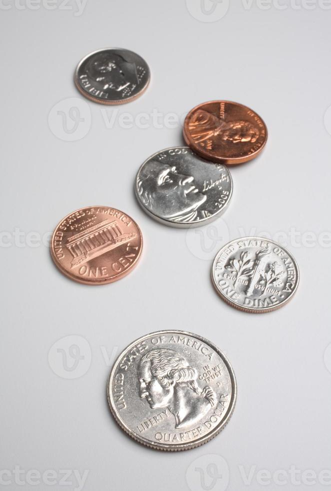 amerikanisches Münzgeld foto