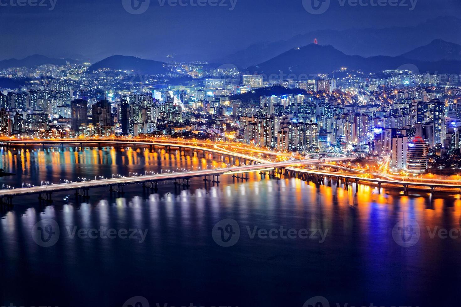 Seoul in der Dämmerung foto