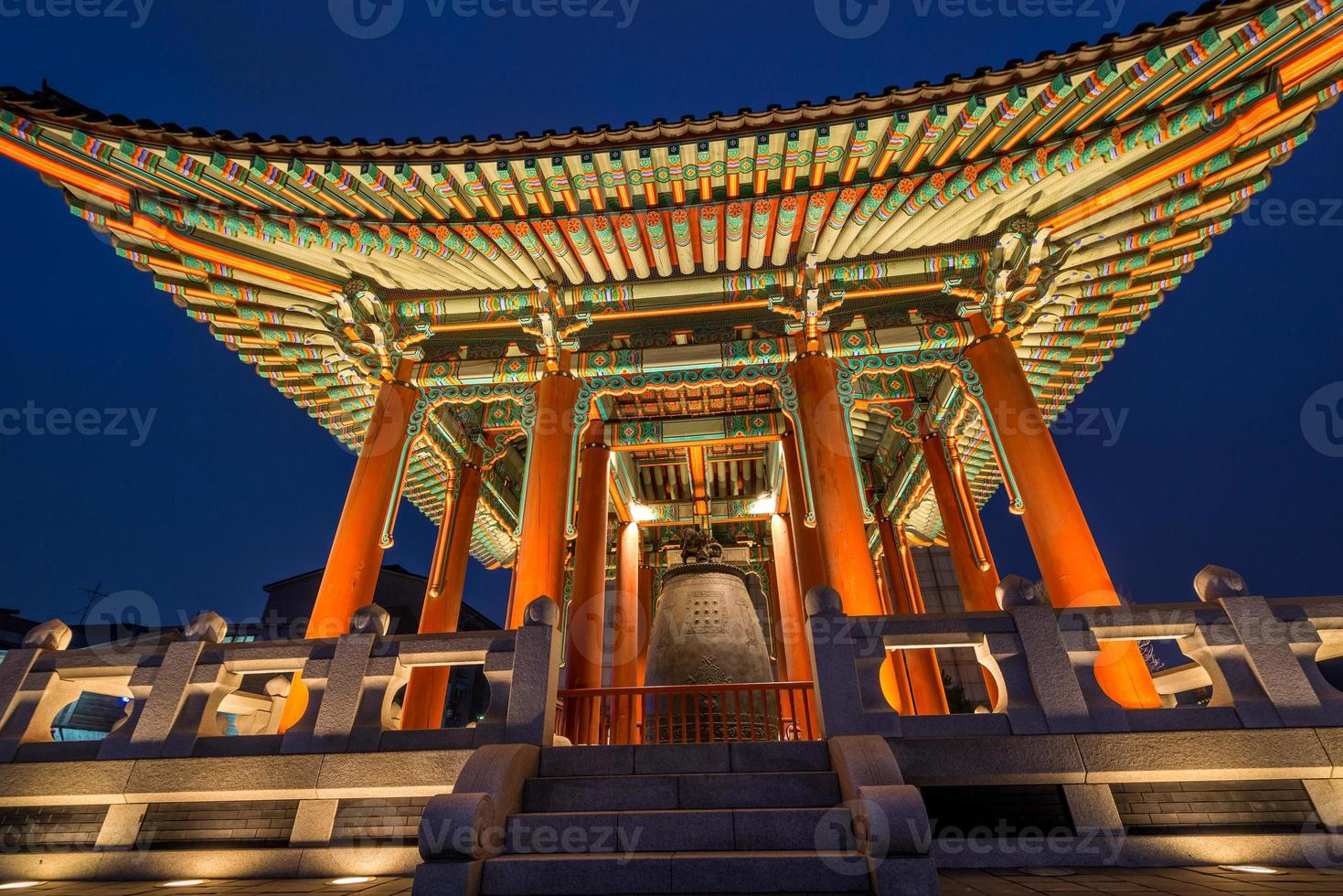 Glockenpavillon in der Festung Hwaseong foto