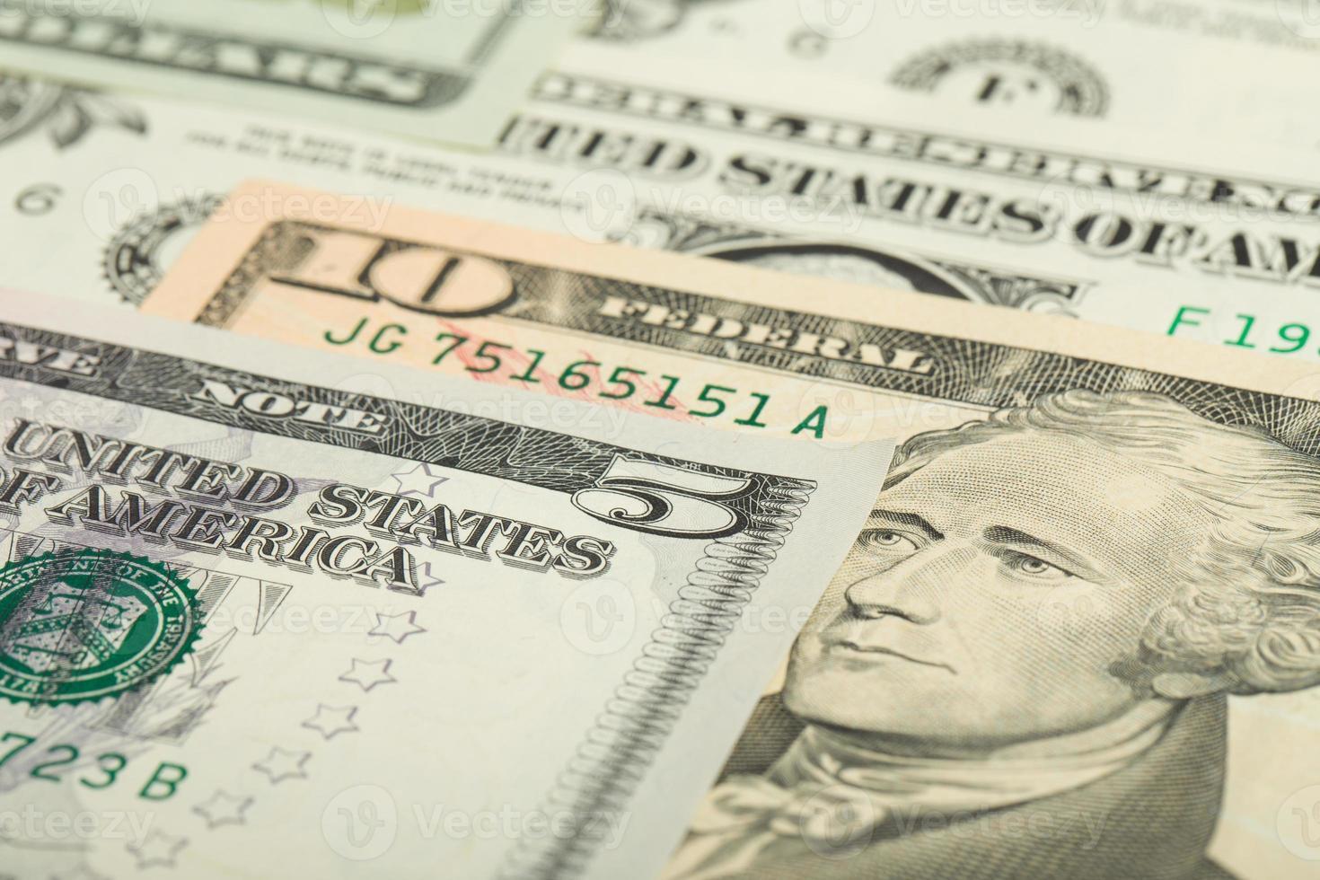 USA Dollar Geld Banknoten Hintergrund foto