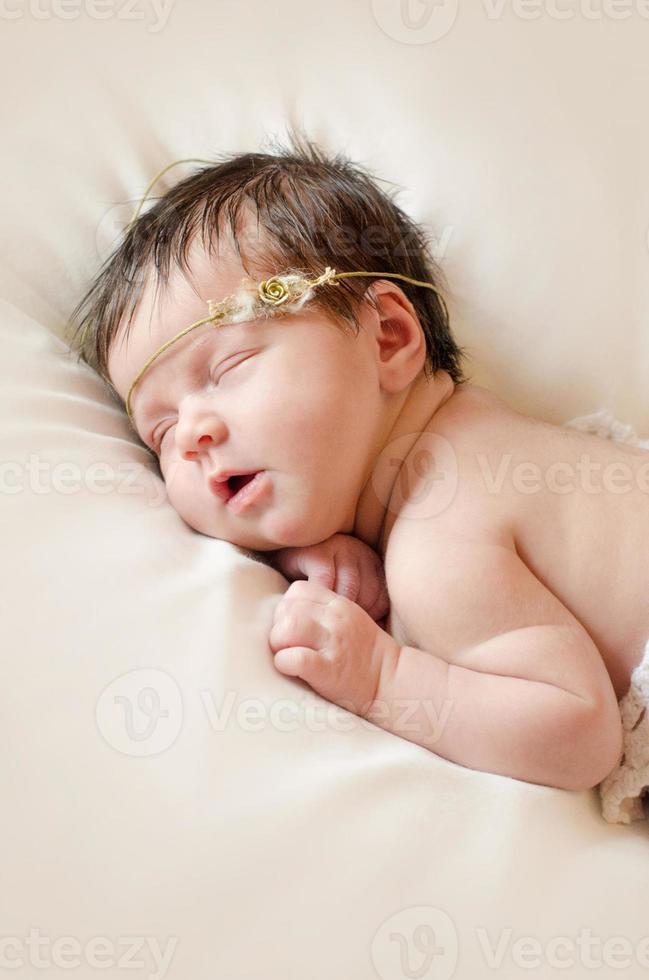 Lächeln schlafendes Baby foto