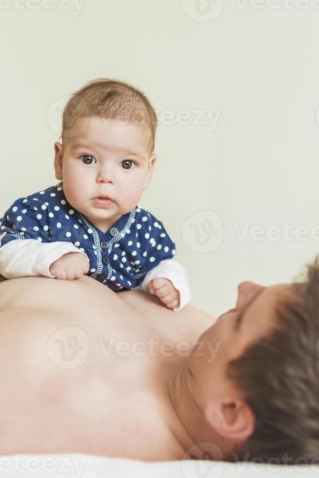 Vater und seine Tochter foto