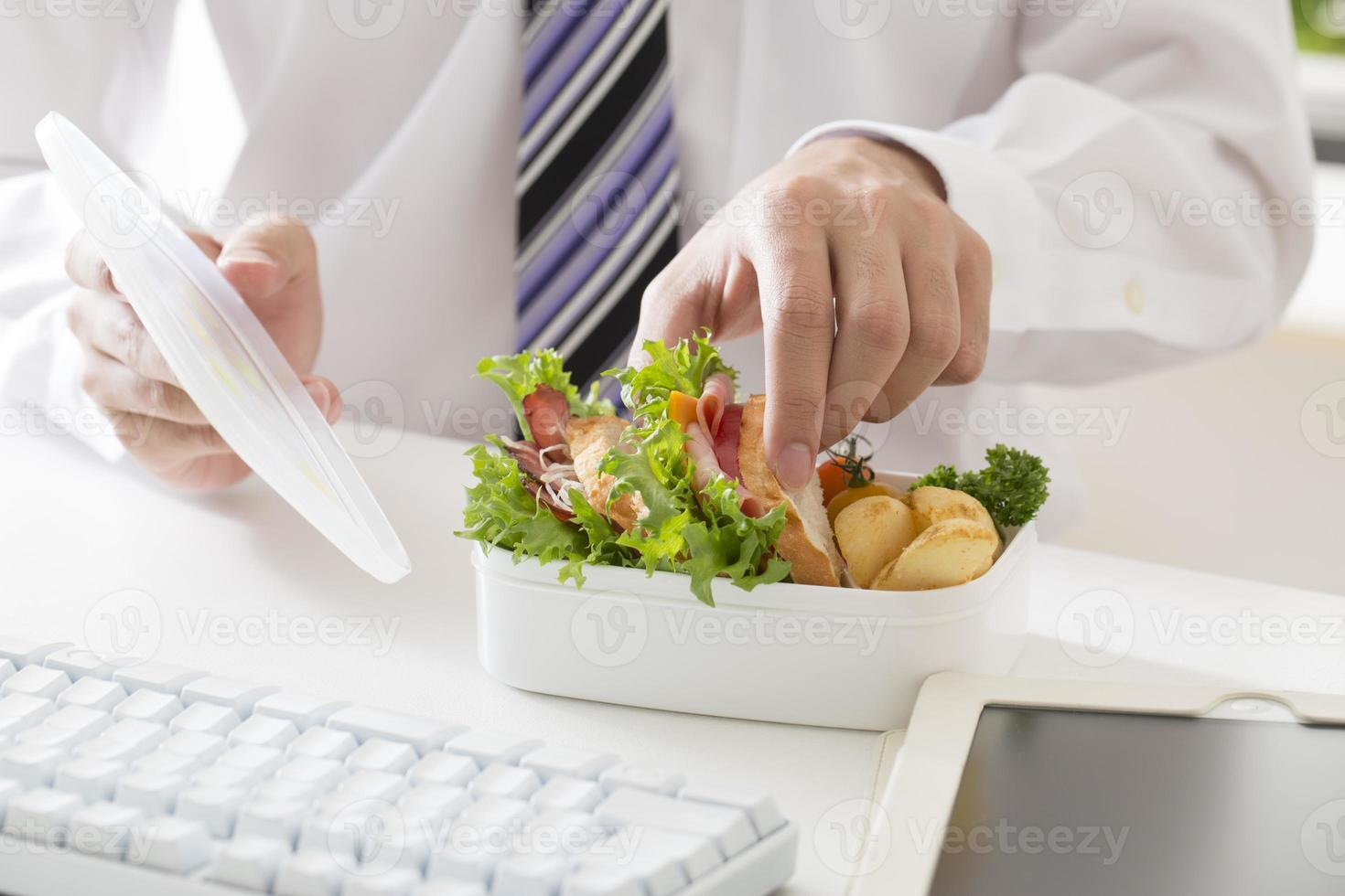 Mittagessen im Büro foto
