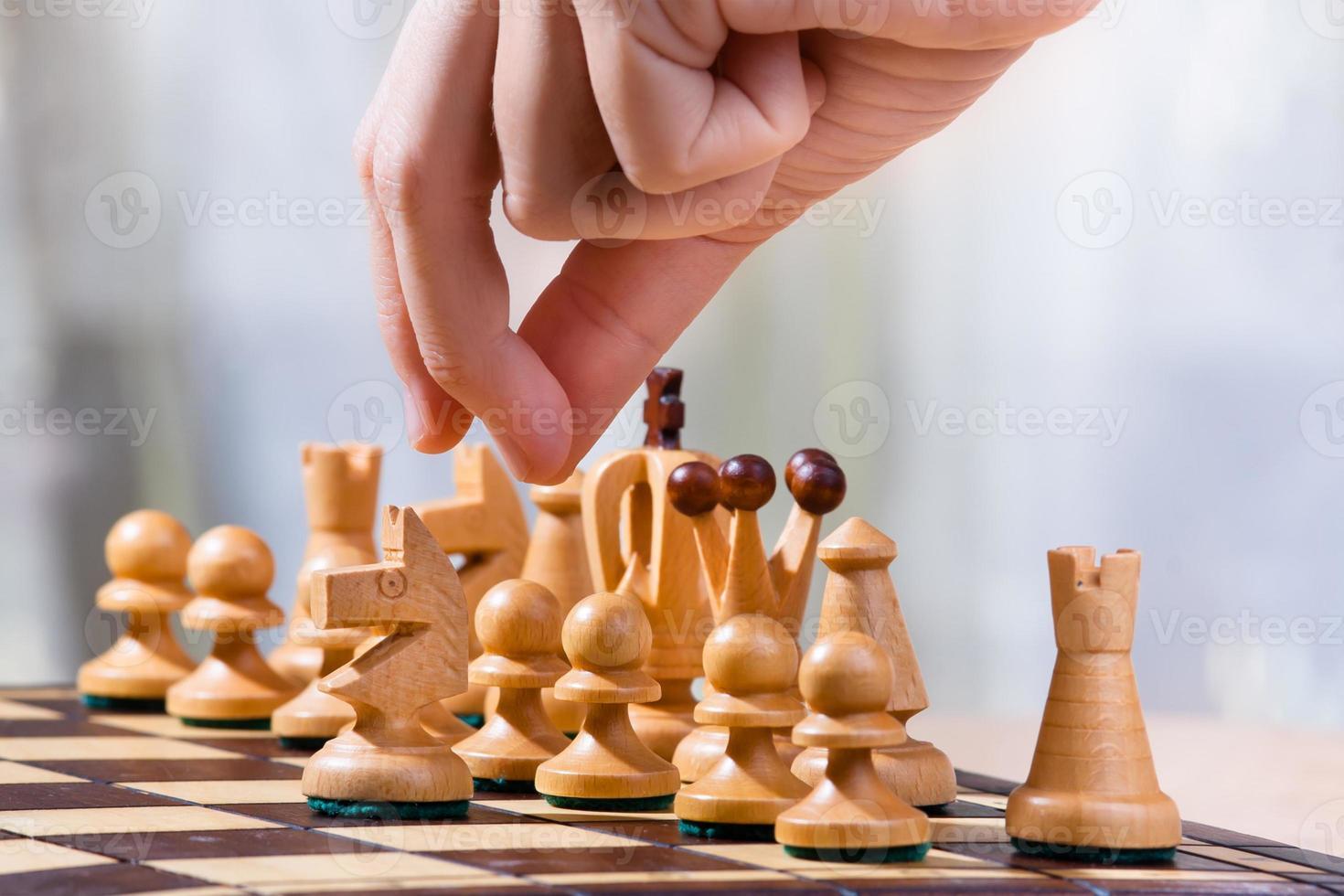Spiel im Schach foto