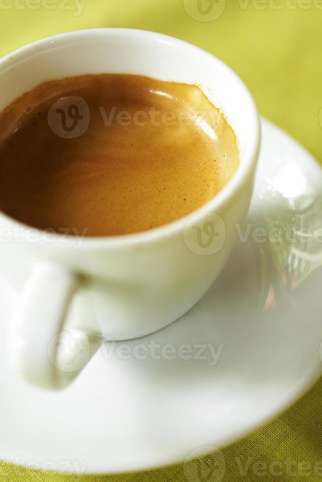 Espresso aus der Nähe foto