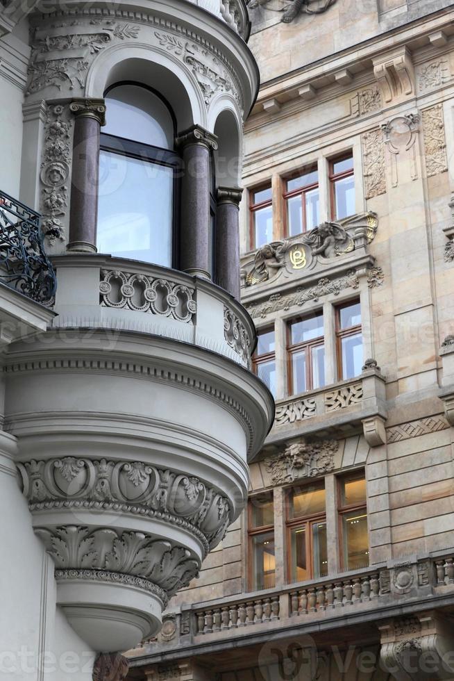 Blick auf Eckturmhaus foto