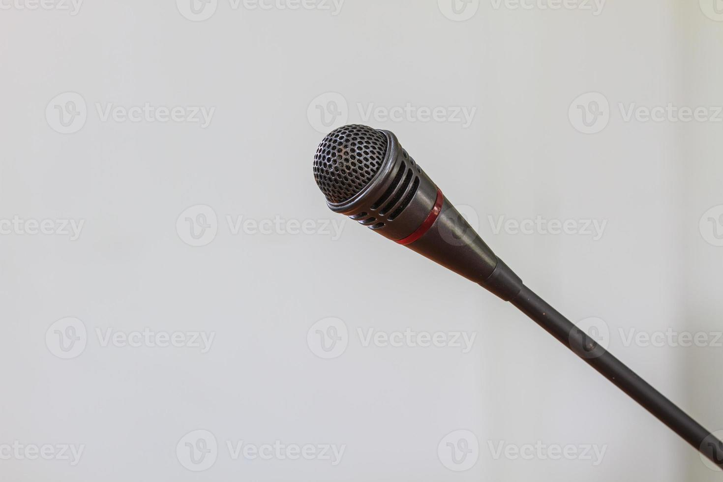 Nahaufnahme des Mikrofons foto