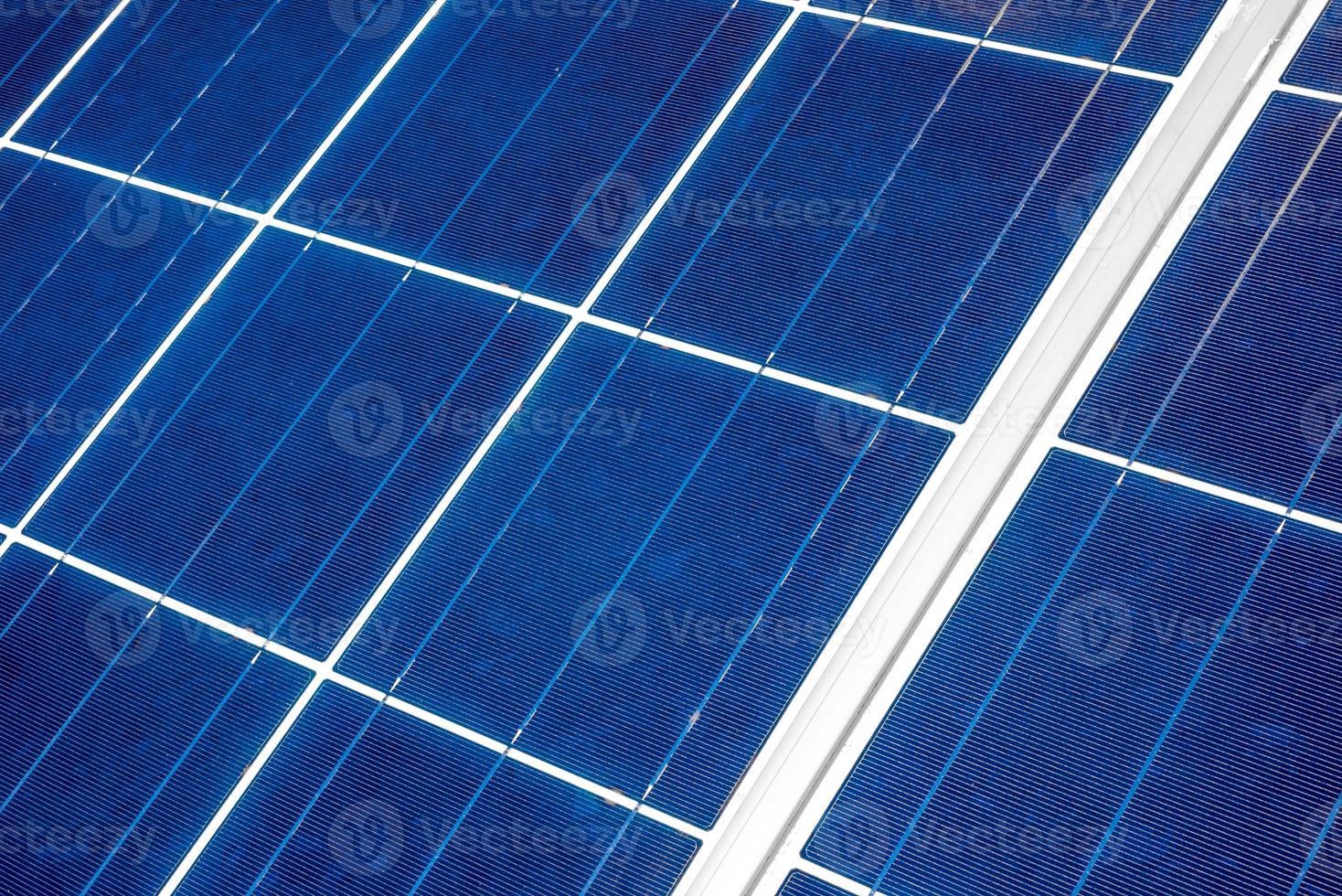 Solarpanel aus nächster Nähe foto