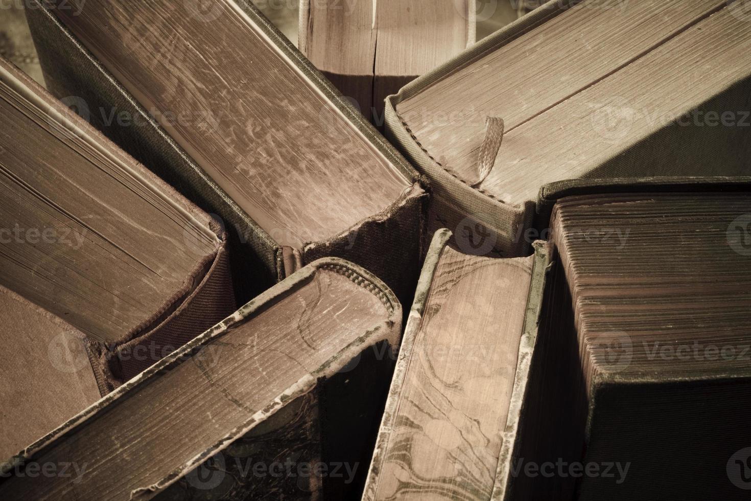 Vintage Bücher hautnah foto