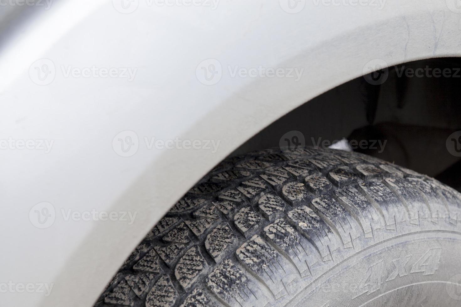 Nahaufnahme suv Reifen foto