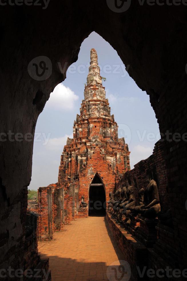 Asien Thailand Ayuthaya Wat Chai Wattanaram foto