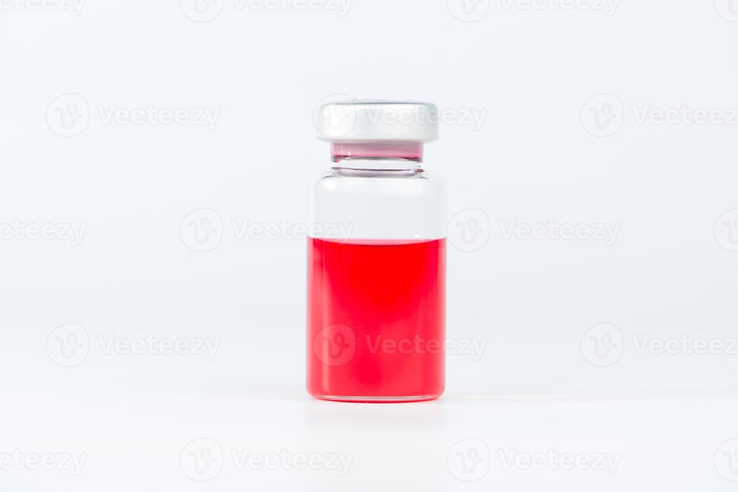 verschlossenes Injektionsfläschchen foto
