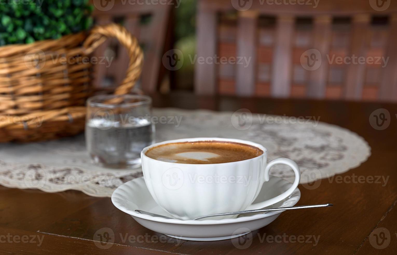 Cappuccino-Tasse nah oben foto