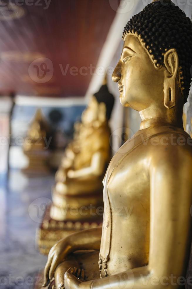 Buddha-Statue Nahaufnahme. foto