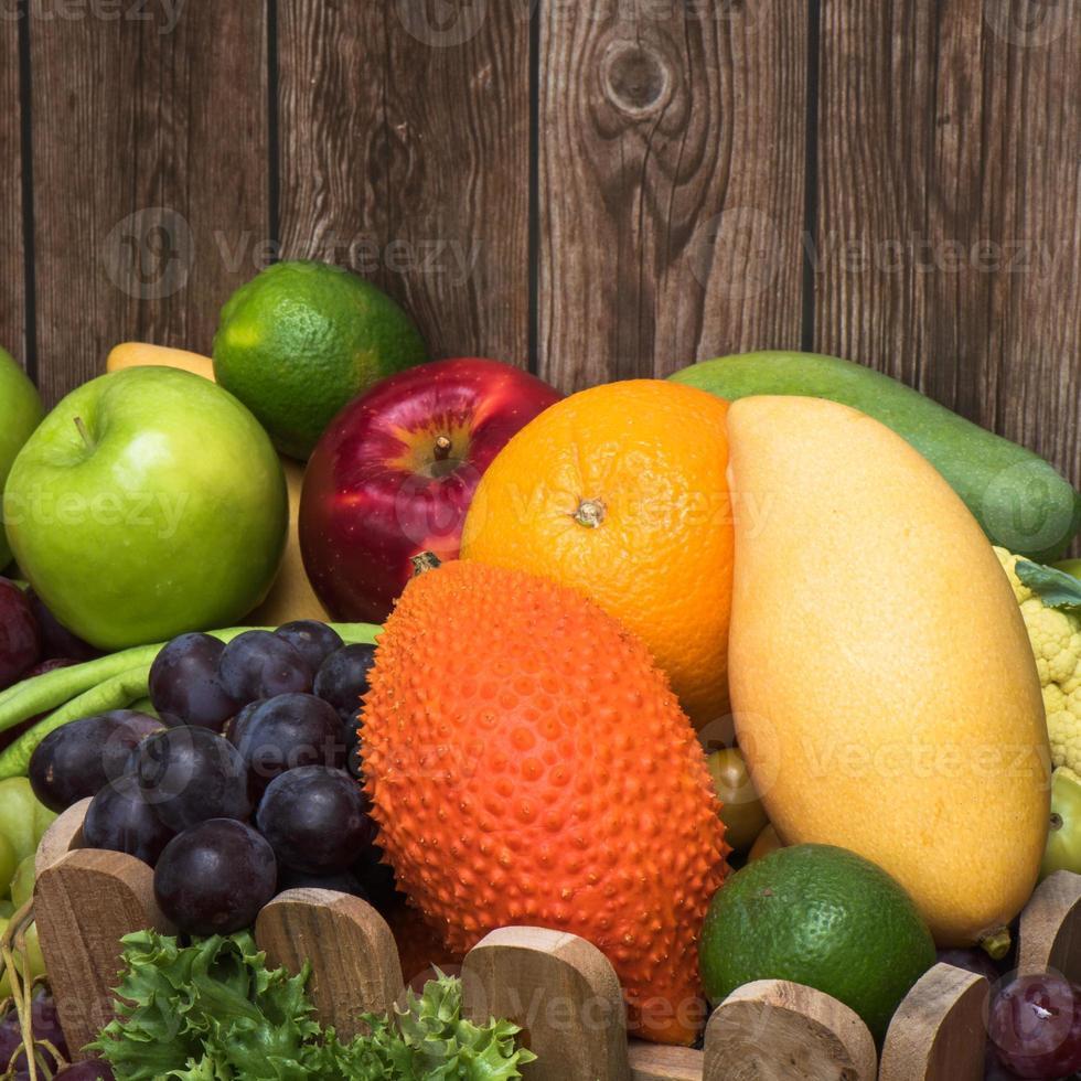 Nahaufnahme tropischer Früchte foto