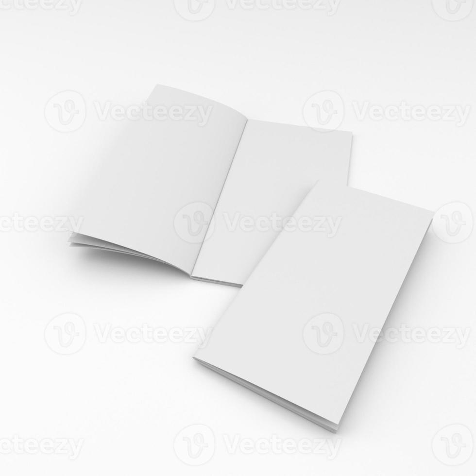 Zusammensetzung von zwei leeren Broschüren foto