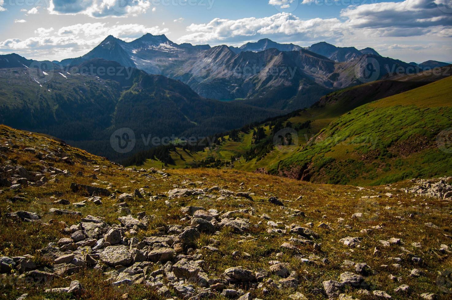 Schneemasse Berg Espe Wildleder Pass Berg Flucht foto