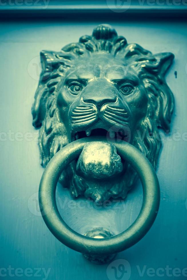 Türklopfer mit Löwenkopf foto
