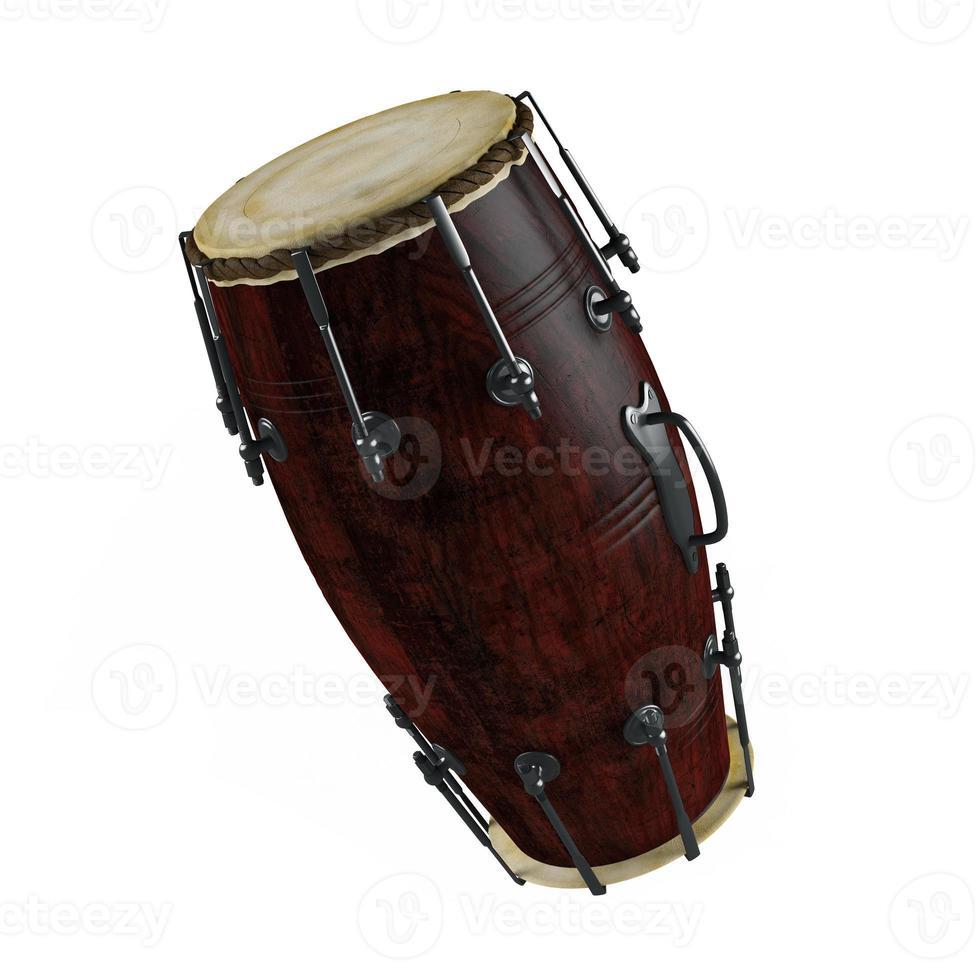 traditionelle Trommeln isoliert foto