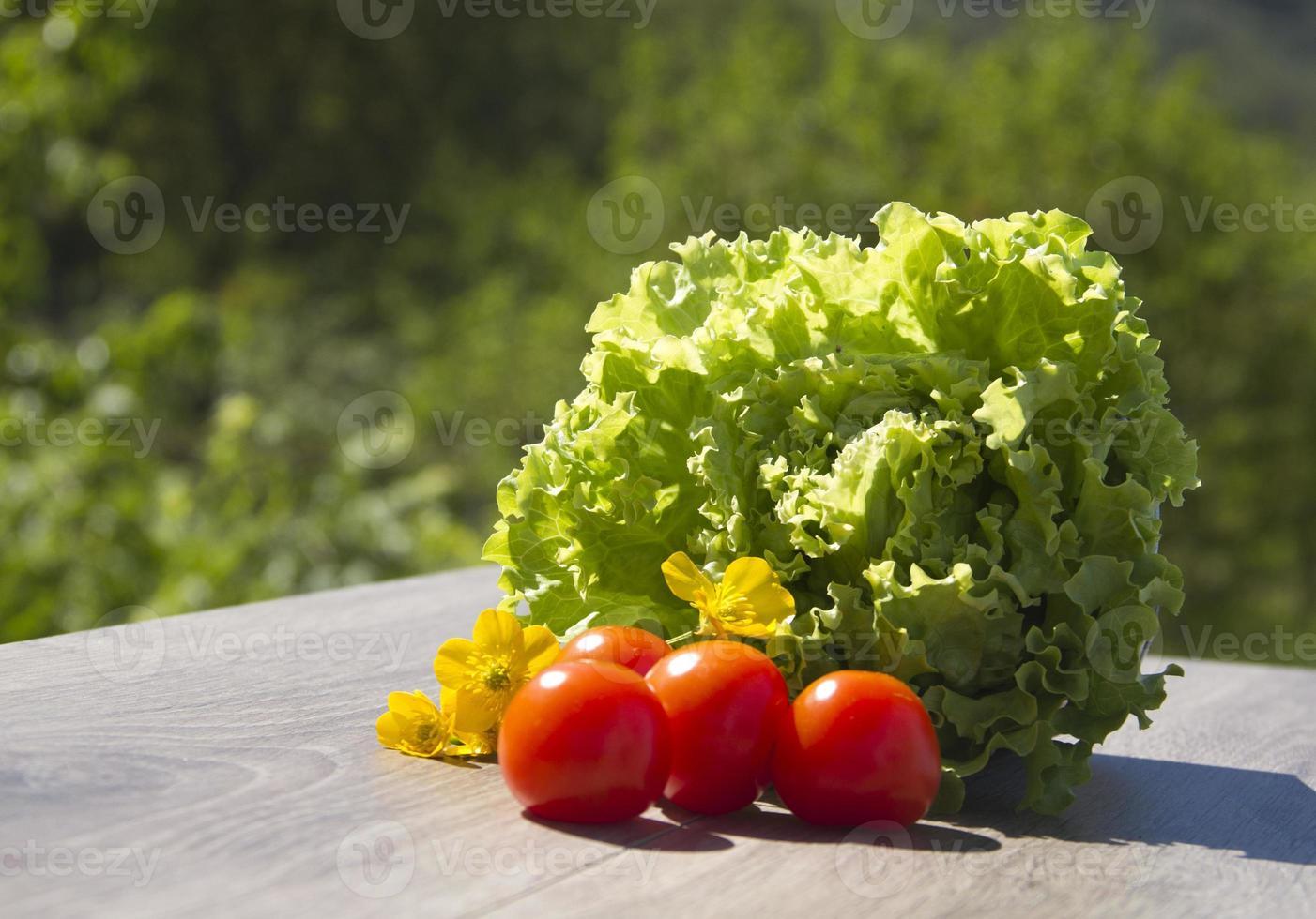 Salat und Tomaten foto