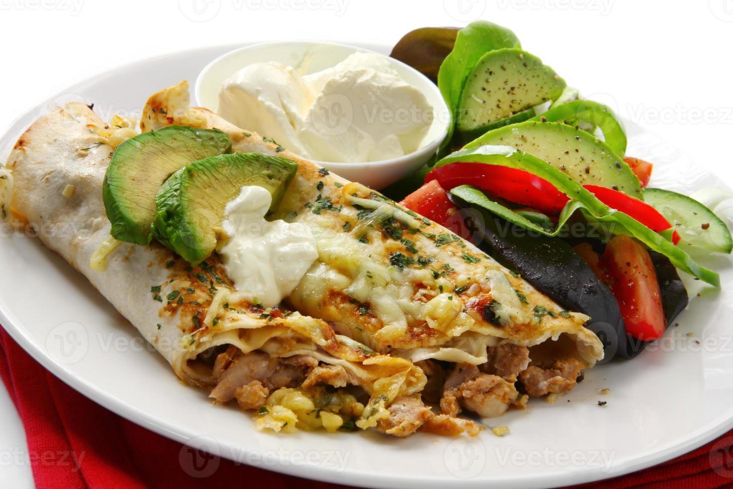 Hähnchen-Burrito foto