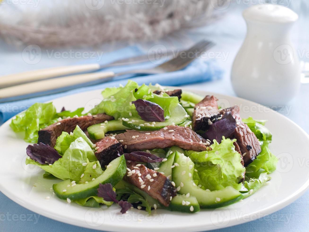 Straußensalat foto