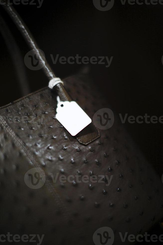 Straußenlederhandtasche foto