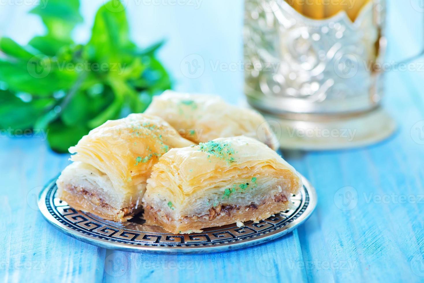 Baklava, türkisches Dessert foto