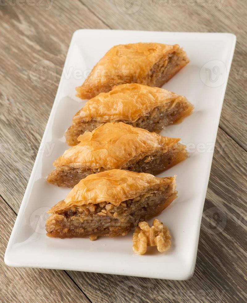 türkisches Dessert: Baklava foto
