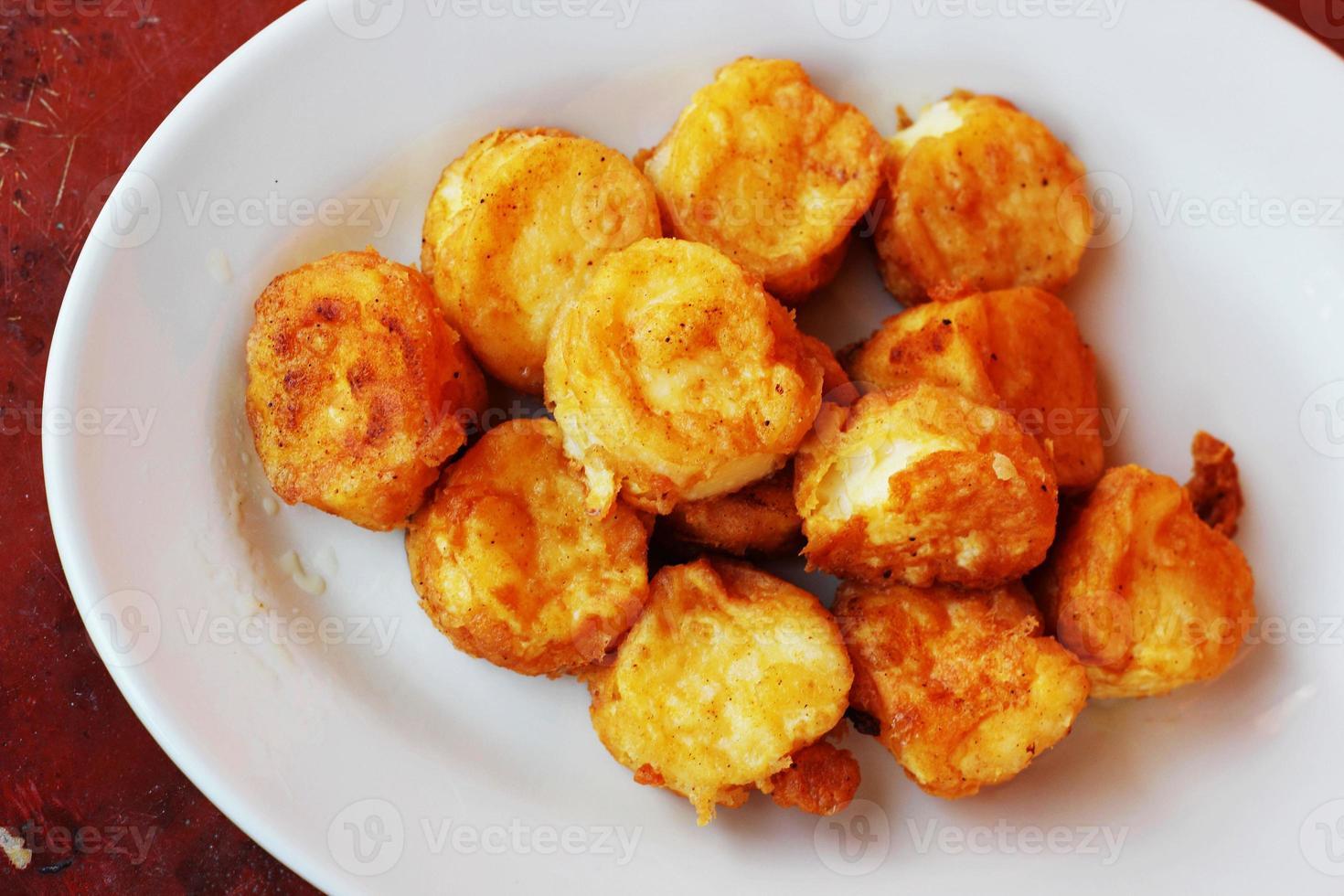 gebratener Tofu. foto