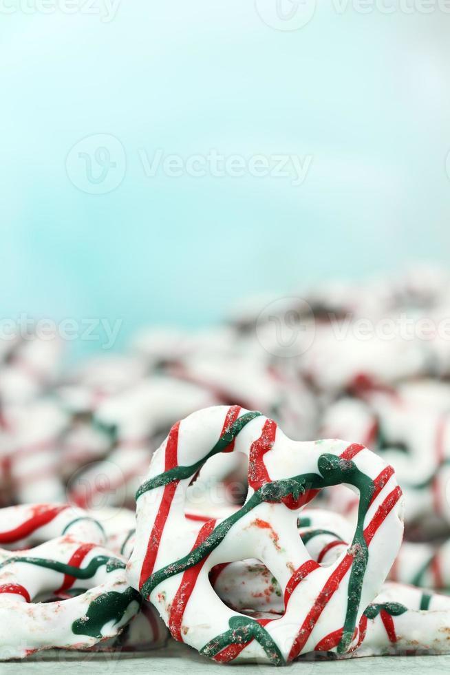 Joghurt bedeckte Brezeln foto