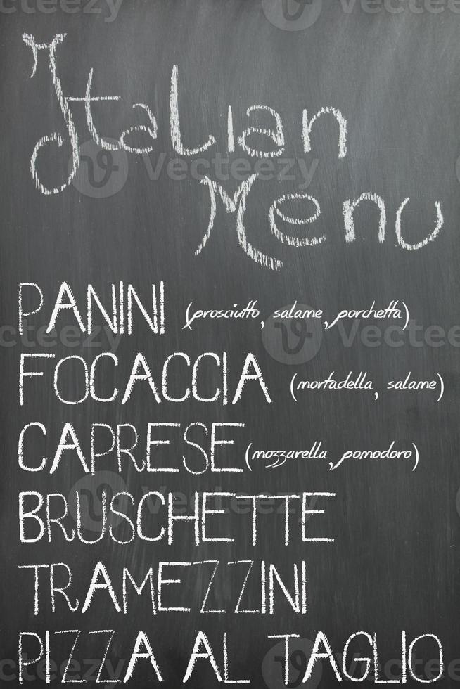 italienisches Barmenü foto