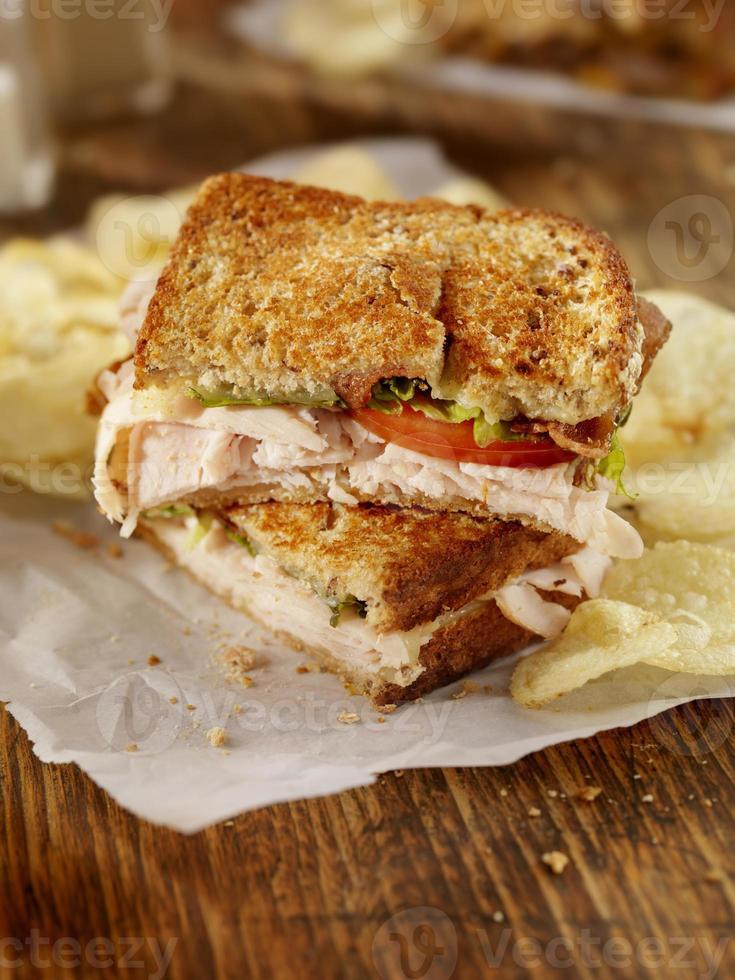 Gegrilltes Clubhaus-Sandwich foto