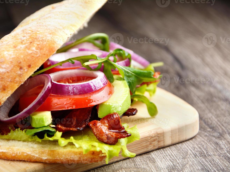 hausgemachtes leckeres Sandwich foto